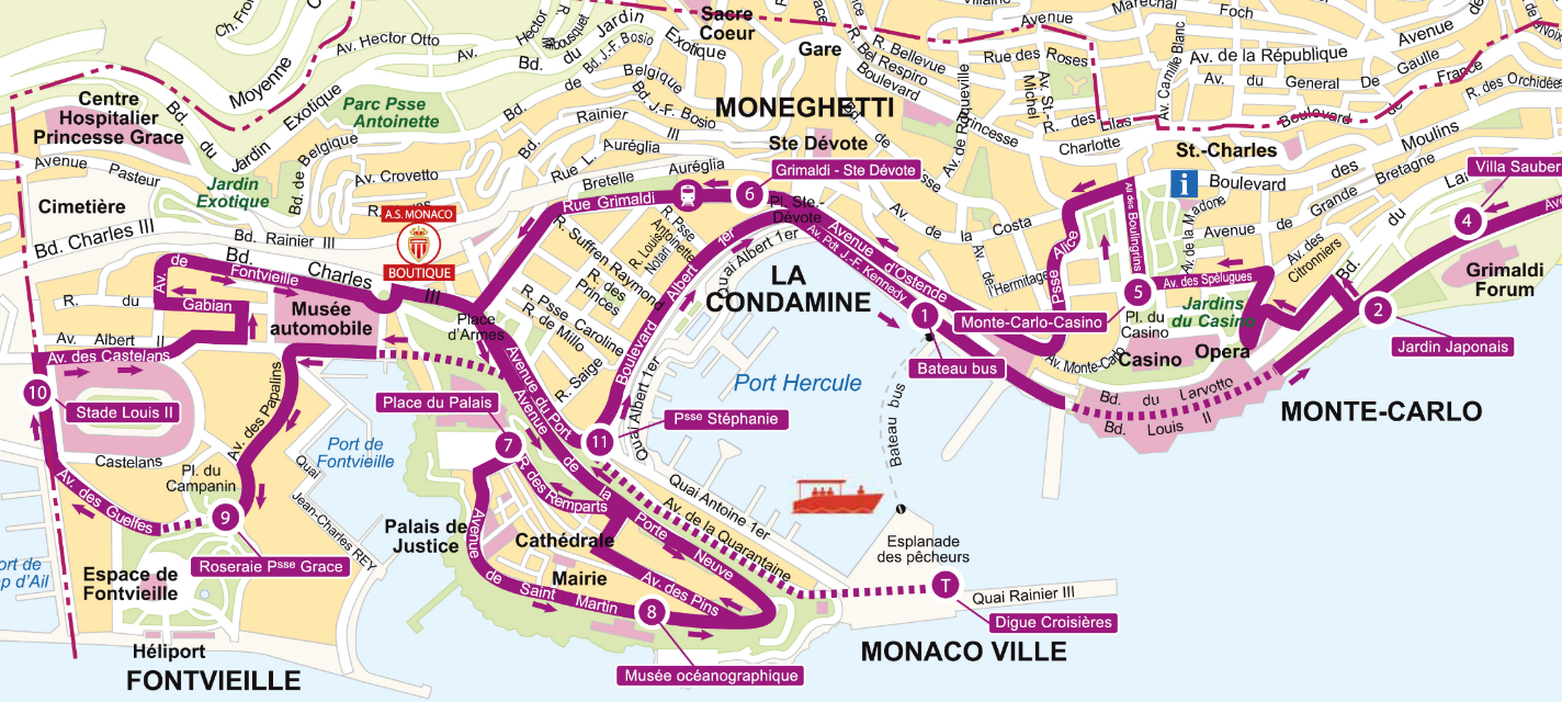 RED Buses Monaco - RED Route